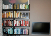 Upper West Side Color Coded Bookcase Before and After