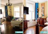 Upper Westside Bedroom Reorganization Before and After