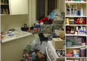 East Village Kitchen Reorganization Before and After