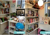 Upper West Side Teen Bedroom Bookcase Before and After