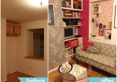 East Village Living Room Reorganization Before and After