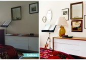 Greenwich Village Bedroom Dresser Reorganization Before and After