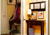 Greenwich Village Foyer Entry Reorganization Before and After