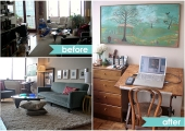 Long Island City Living Room Before and After