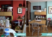 Long Island City Dining Room Before and After