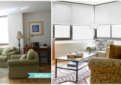 Union Square Living Room Reorganization Before and After