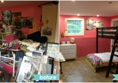 Princeton Boy's Bedroom Before and After