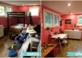 Princeton Boy's Bunkbed Before and After