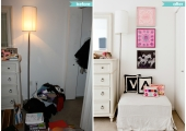 Union Square 2 Bedroom Reorganization Before and After