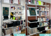 Vistoe Bookcase Wall Unit Before and After