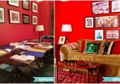 Greenwich Village Living Room Reorganization Before and After