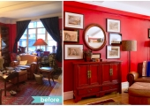 Greenwich Village Dining Room Reorganization Before and After