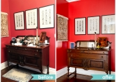 Upper West Side Dining Room Sideboard Reorganization Before and After