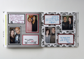 engagement party scrapbook notes