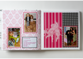 engagement party pink scrapbook