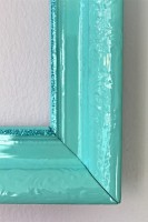Tiffany blue & glitter frame