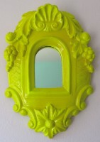 neon yellow mirror - SOLD