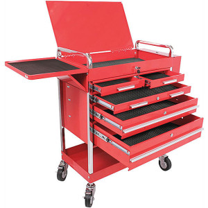 red-metal-rolling-cart-tool-storage