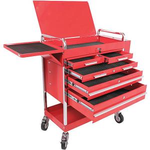 red-metal-rolling-cart-tool-storage