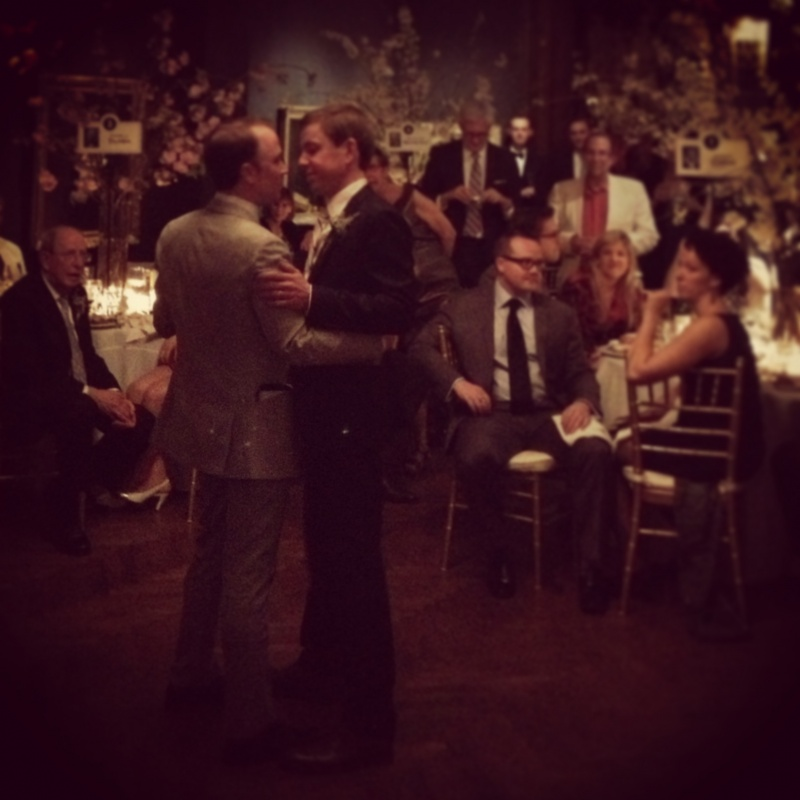 The happy couple take their first dance as husband & husband.