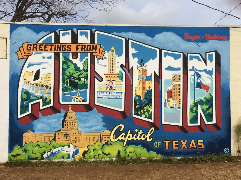 Greeting from austin painted sign photojeanie greeting from austin painted sign m4hsunfo