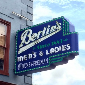 berlins vintage neon sign charleston south carolina