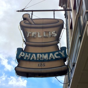 tellis pharmacy sign upper king charleston south carolina